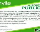 Audiência Pública 28/11/2018 sobre questões da Rede Celpa